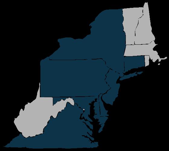 Where We Lend: NY, NJ, CT, PA, DE, MD, VA